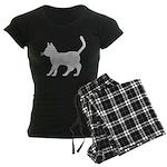 Gray Cat Icon Women's Dark Pajamas