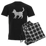 Gray Cat Icon Men's Dark Pajamas