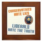 Conservative vs Liberal Framed Tile