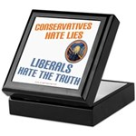 Conservative vs Liberal Keepsake Box