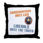 Conservative vs Liberal Throw Pillow