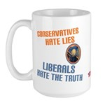 Conservative vs Liberal Large Mug