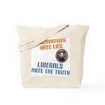 Conservative vs Liberal Tote Bag