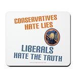 Conservative vs Liberal Mousepad