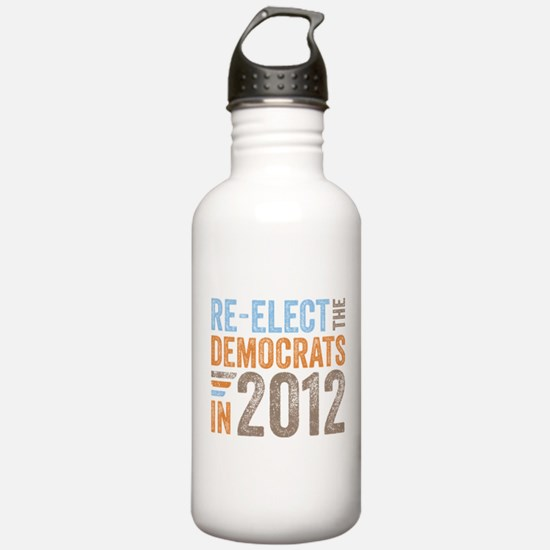 2012 Re-Elect Democrats Water Bottle
