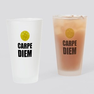 Carpe Diem Pickleball Drinking Glass