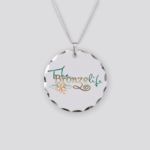 The Bronze life Necklace Circle Charm