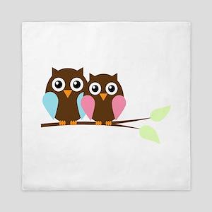 Owls Queen Duvet