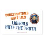 Conservative vs Liberal Rectangle Sticker