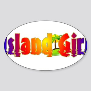 Island Girl Sticker (Oval)
