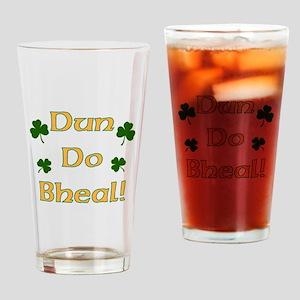 Shut your Mouth! Irish Gaelic Drinking Glass