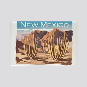 New Mexico Desert Rectangle Magnet