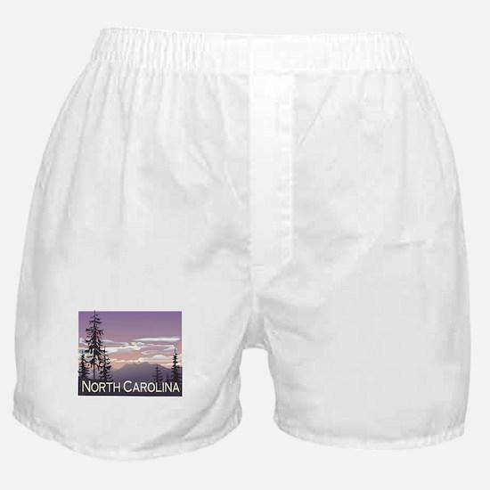 North Carolina Mountains Boxer Shorts
