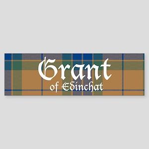 Tartan - Grant of Edinchat Sticker (Bumper)