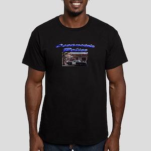 Oceanside Police Car Men's Fitted T-Shirt (dark)