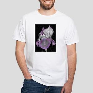 Dramatic Nighttime Iris White T-Shirt