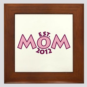New Mom Est 2012 Framed Tile