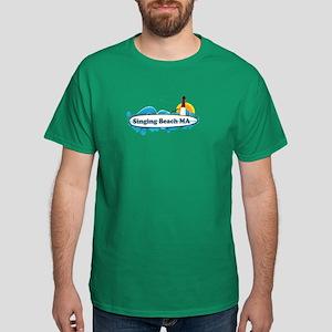 Singing beach MA. Dark T-Shirt