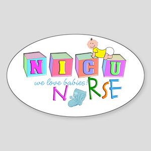 NICU Baby Sticker (Oval)