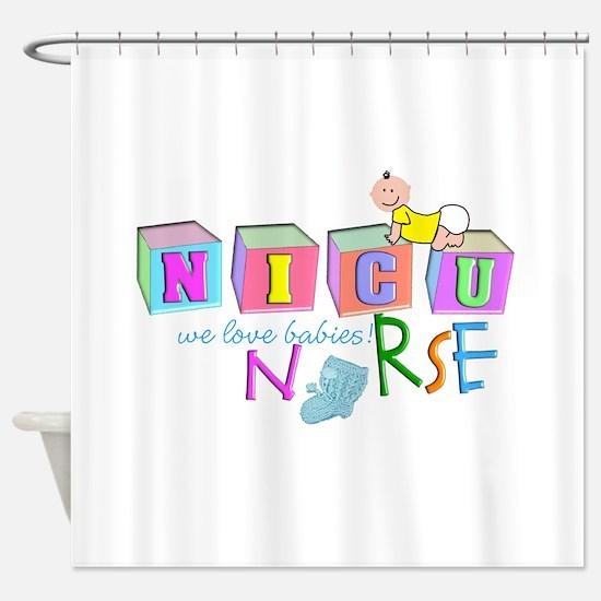 NICU Baby Shower Curtain