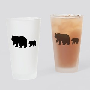 Bear Migration Icon Drinking Glass