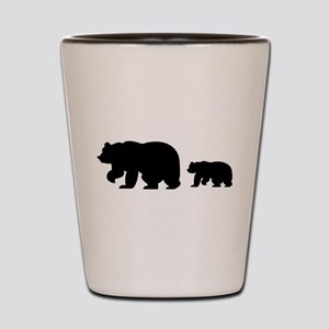 Bear Migration Icon Shot Glass