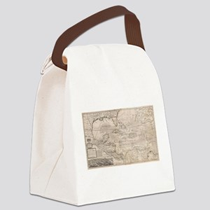 Vintage Map of The Caribbean (173 Canvas Lunch Bag