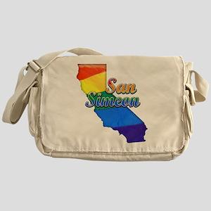 San Simeon, California. Gay Pride Messenger Bag