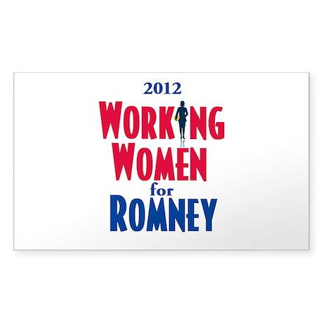 Romney WOMEN Sticker (Rectangle)