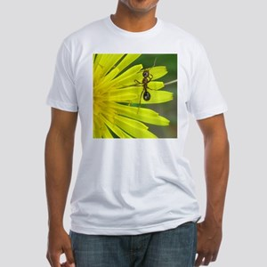 Ant on Dandelion Fitted T-Shirt