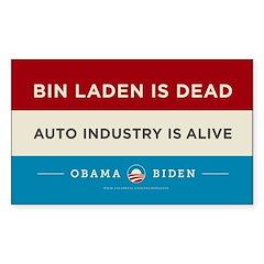Bin Laden Dead, Auto Industry Alive Decal