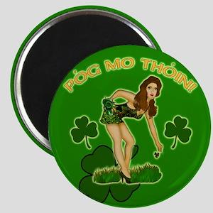 Kiss my @$$ Irish Gaelic Magnet