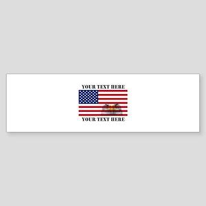 America Flag and Eagle Sticker (Bumper)