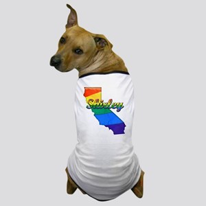 Shirley, California. Gay Pride Dog T-Shirt