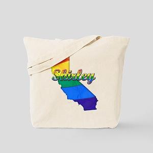 Shirley, California. Gay Pride Tote Bag