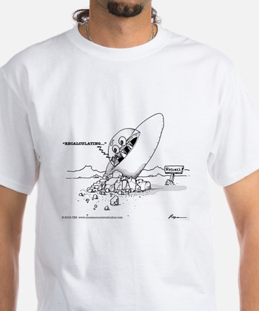 GPS White T-Shirt