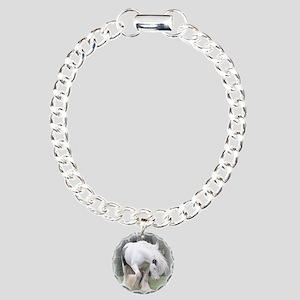 All White Stallion Charm Bracelet, One Charm