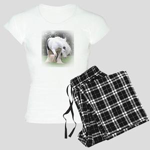 All White Stallion Women's Light Pajamas