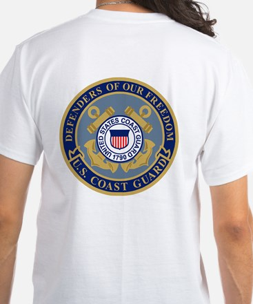 Coast Guard CWO2<BR> White T-Shirt 2
