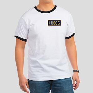 Coast Guard CWO2<BR> Blue Ringer Shirt 2