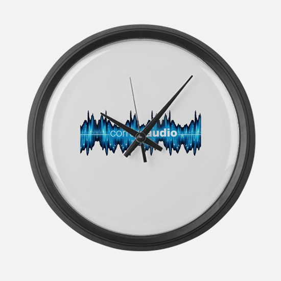 Corrupt Audio Network Logo Large Wall Clock