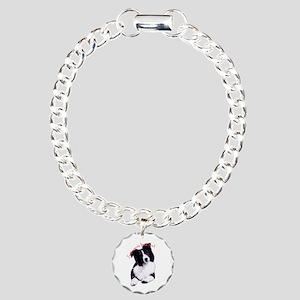 border collie Charm Bracelet, One Charm