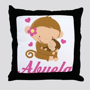 Abuela Monkeys Gift Throw Pillow