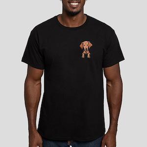 Pocket Vizsla Men's Fitted T-Shirt (dark)