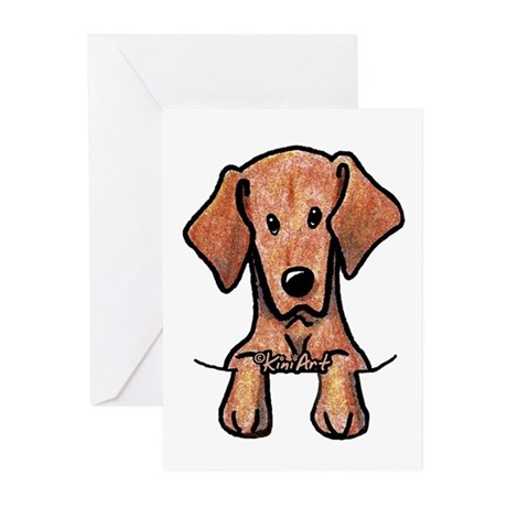 Pocket Vizsla Greeting Cards (Pk of 10)