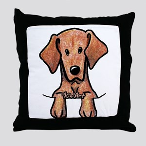 Pocket Vizsla Throw Pillow
