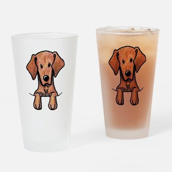 Pocket Vizsla Drinking Glass