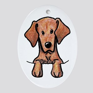 Pocket Vizsla Ornament (Oval)