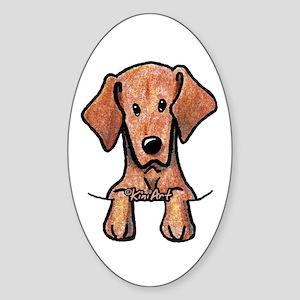 Pocket Vizsla Sticker (Oval)