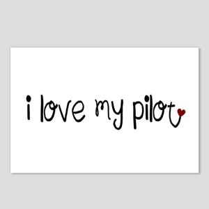 I Love my Pilot Postcards (Package of 8)